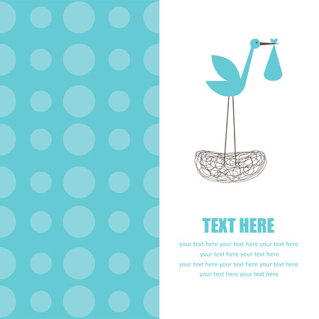baby boy announcement card. vector illustration Vector