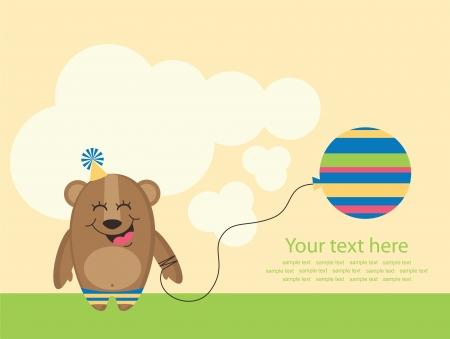 cute greeting card. vector illustration Vector