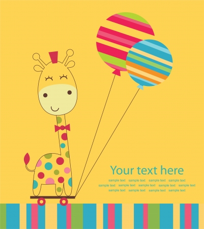 cute greeting card. vector illustration