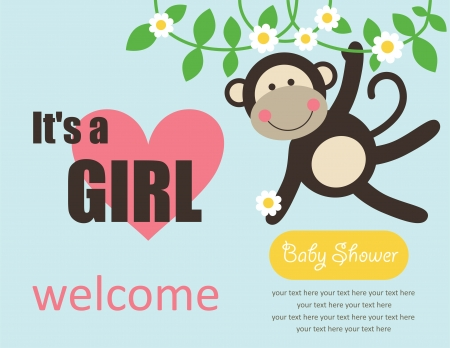 cute baby girl shower. vector illustration Vector