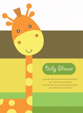 baby shower with cute giraffe. vector illustration Stock Vector - 22589168