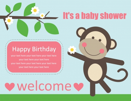 cute baby girl shower. vector illustration Vector