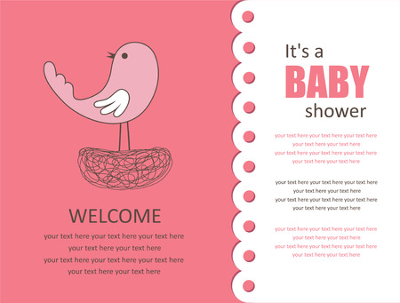 baby girl background: cute baby shower design. vector illustration