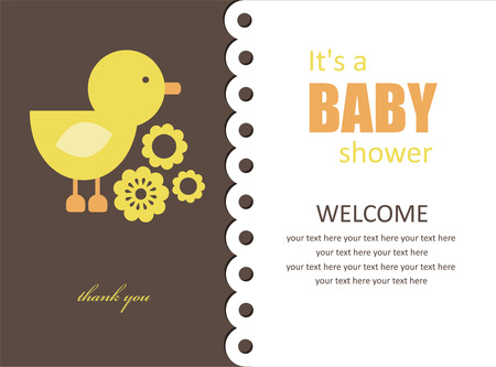 cute baby shower design. vector illustration Vector