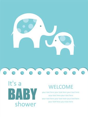 cute baby shower design. vector illustration Vector