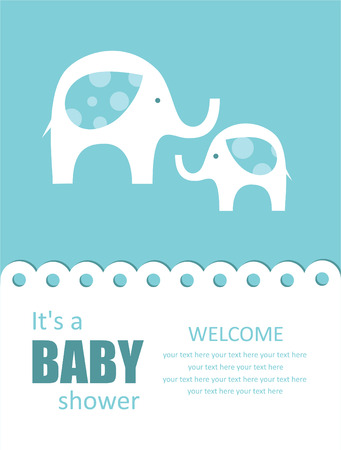 baby elephant: cute baby shower design. vector illustration