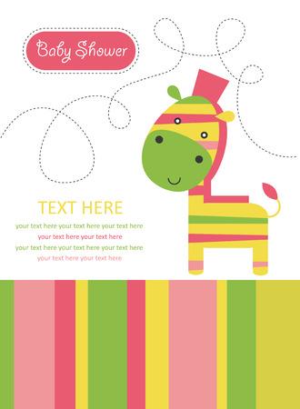 cute card with zebra. vector illustration Stock Vector - 22590529