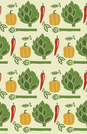 cute vegetable pattern design. vector illustration Vector