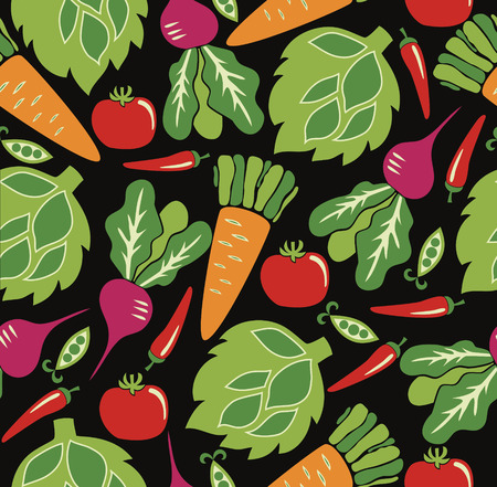 vegetable pattern design. vector illustration Vector