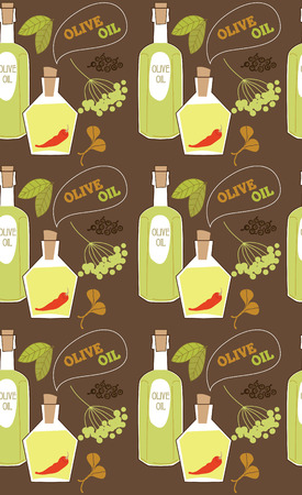 indian spices: spice seamless pattern design. vector illustration Illustration