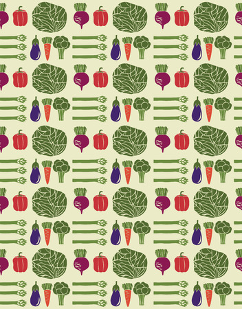 greengrocery: cute vegetable pattern design. vector illustration