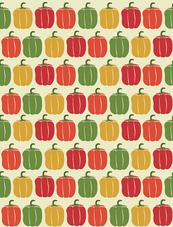 cute seamless vegetable pattern design. vector illustration Vector