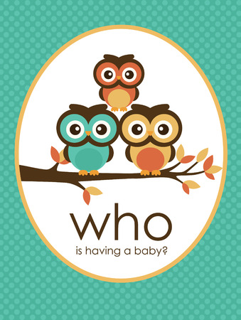 welcome baby card design. vector illustration Vector