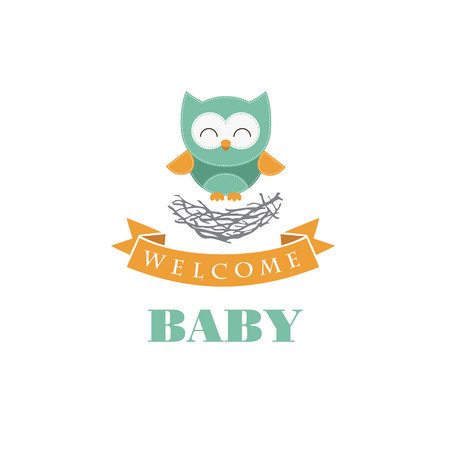 boy child: welcome card design bambino. illustrazione vettoriale