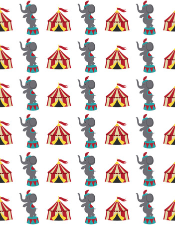 gee gee: seamless circus pattern design. vector illustration