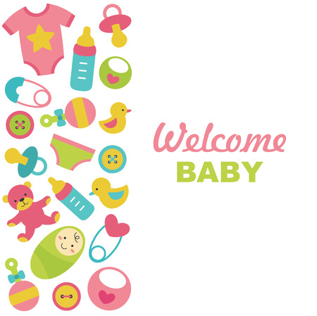 newborn card design. vector illustration Vector