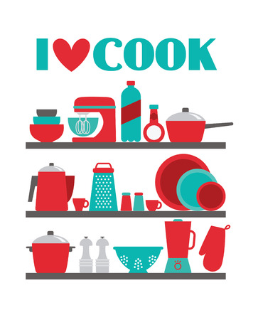 I love cook card design. vector illustration Vector