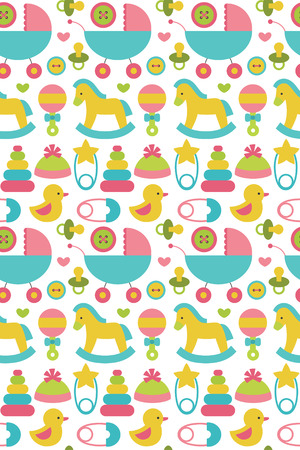 newborn seamless pattern design. vector illustration