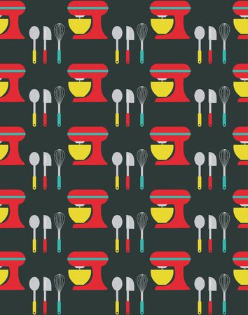 kitchen seamless pattern design. vector illustration Vector