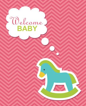 gee gee: newborn card design. vector illustration