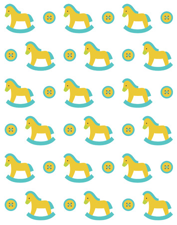 gee gee: cute seamless baby pattern design. vector illustration
