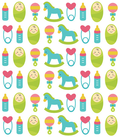 gee: cute seamless baby pattern design. vector illustration