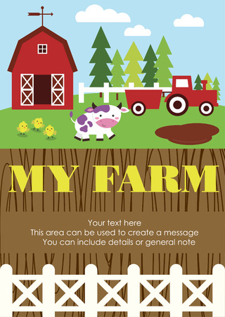 my farm card design. vector illustration Vector