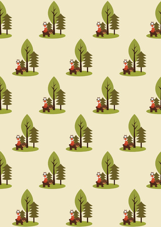 forest seamless pattern design. vector illustration Vector