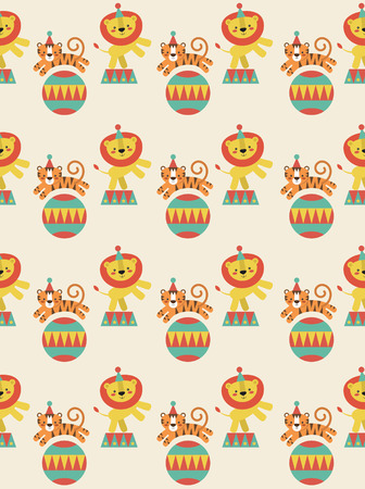 seamless pattern with cute deer. vector illustration Vector