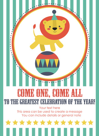 circus card design. vector illustration Illustration