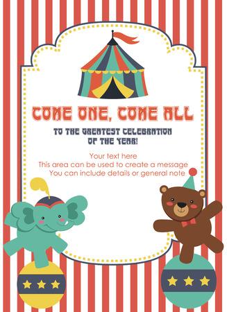fun circus card design. vector illustration