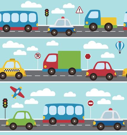 baby vehicle pattern design. vector illustration Vector