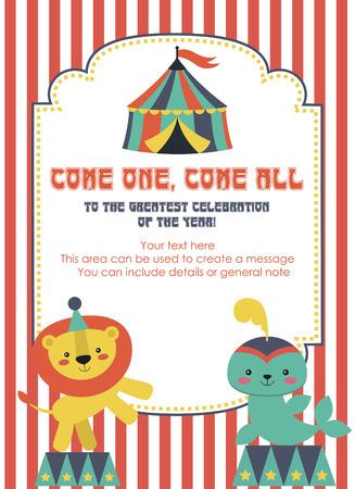 fun circus card design. vector illustration Vector