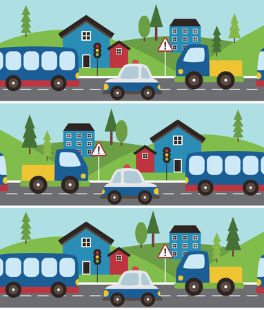 baby vehicle pattern design. vector illustration Vector