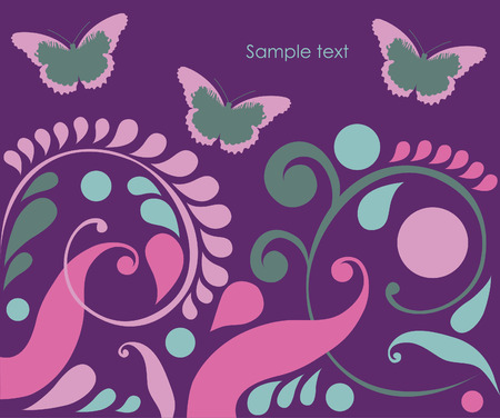 abstract background with butterflies. vector illustration Stock Vector - 27421768
