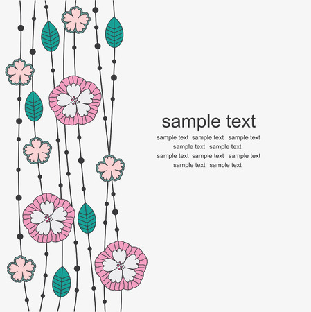 vintage floral background. Stock Vector - 27421812