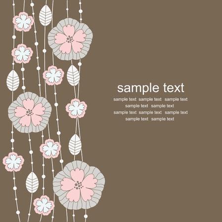 vintage floral background. vector illustration Stock Vector - 27403627