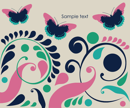 abstract background with butterflies.  Stock Vector - 27403584