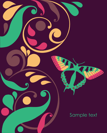 abstract background with butterflies.  Stock Vector - 27403572