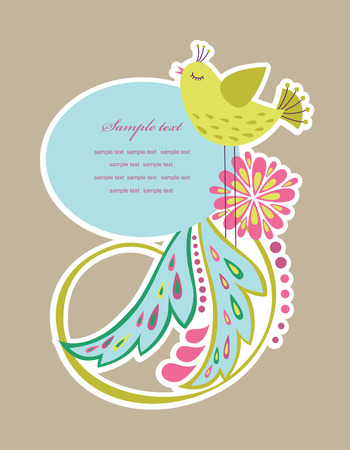 cute frame design for greeting card. Stock Vector - 27403554