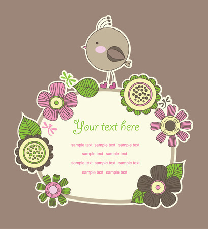 cute frame design for greeting card. Stock Vector - 27421948