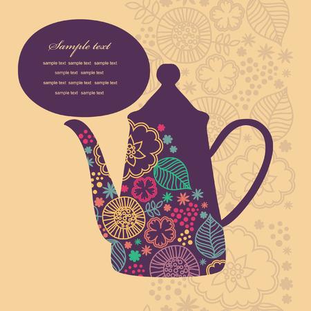 cute teatime card. vector illustration Vector