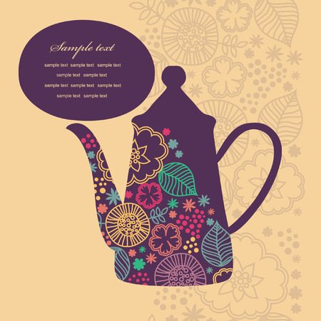 cute teatime card. vector illustration Vector