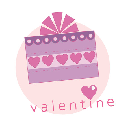 cute valentine card. vector illustration Vector