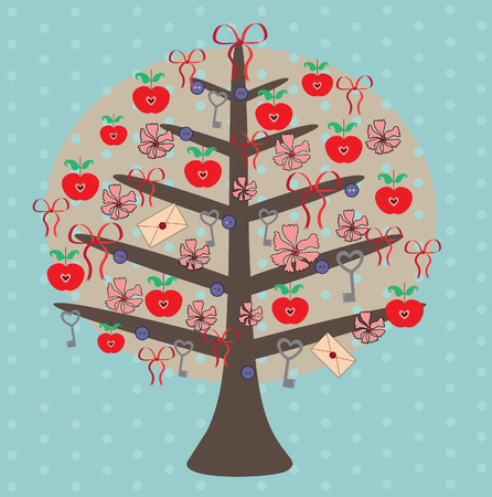 vintage tree. vector illustration Stock Vector - 27421984