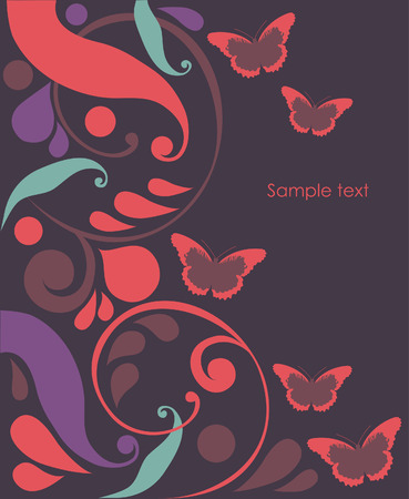 abstract background with butterflies. vector illustration Stock Vector - 27421987