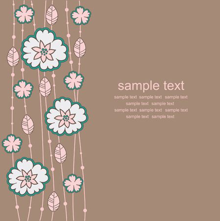 vintage floral background. vector illustration Stock Vector - 27422009