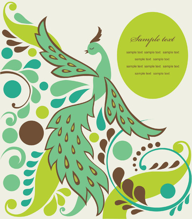 cute fairy tale bird. vector illustration Stock Vector - 27422047