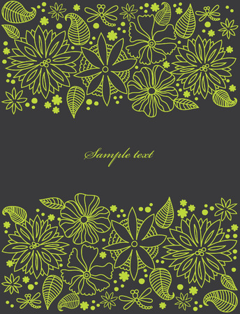 abstract floral background. vector illustration Stock Vector - 27422076