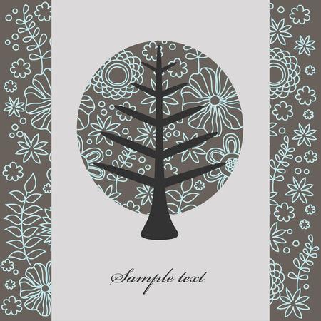 vintage tree. vector illustration Stock Vector - 27422080